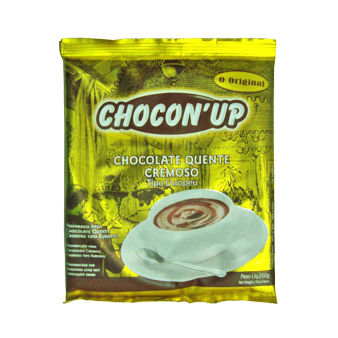 CHOCOLATE QUENTE CREMOSO TIPO EUROPEU - CHOCON´UP - 5 PACOTES