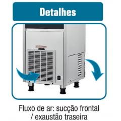 Máquina de Gelo Compacta 36 kg/dia - Reservatório 13kg  - Modelo  SCI-035